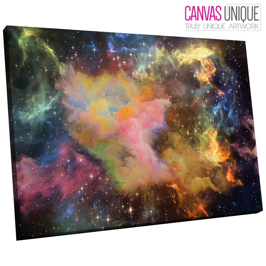 AB1378 colour planet space Abstract Wall Art Picture Large Canvas Print
