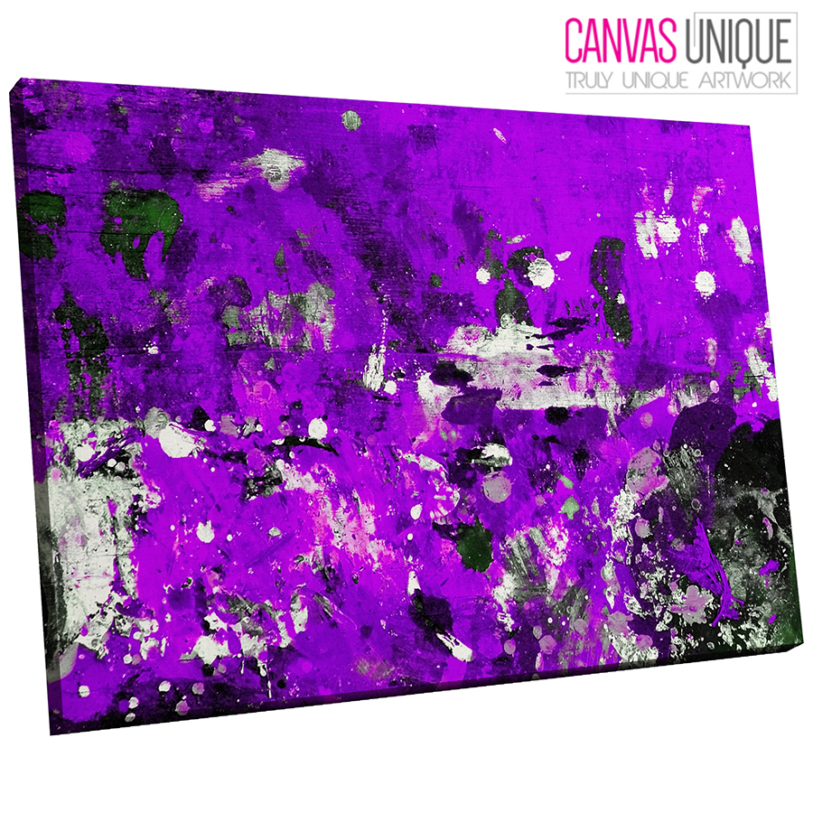 AB1445 lila Modern Paint Splash Abstract Wall Art Picture Large Canvas Print