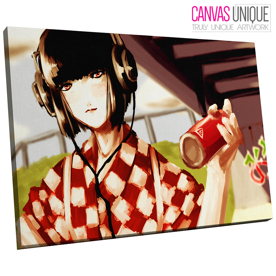 AB194 rot Anime Painting Abstract Canvas Wall Art Framed Picture Print