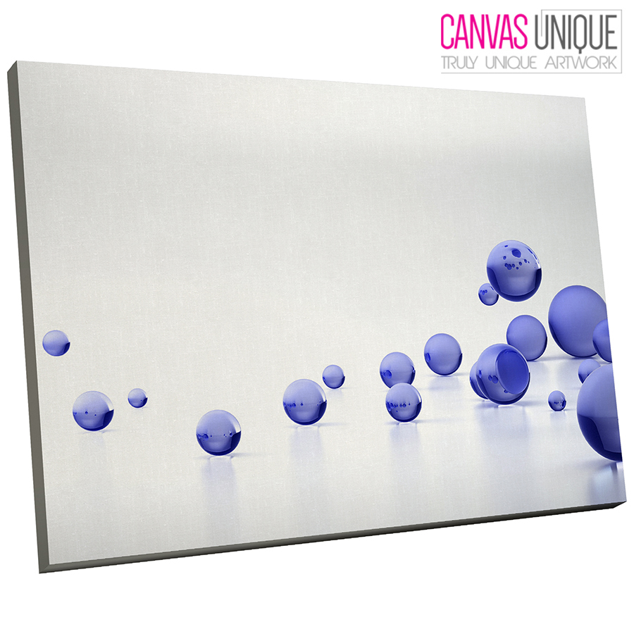 AB207 Blau Modern 3D Balls Abstract Canvas Wall Art Framed Picture Print