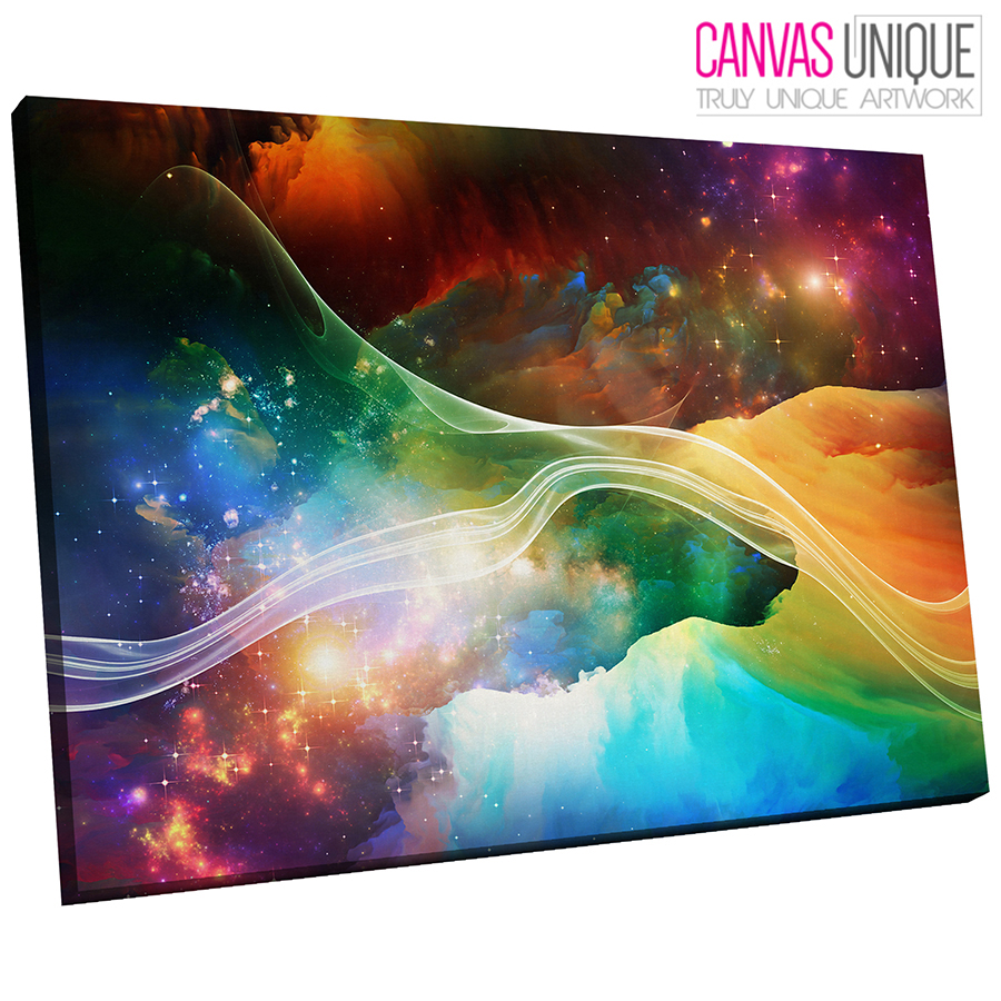 Details About Ab360 Trippy Colour Space Galaxy Abstract Canvas Wall Art Framed Picture Print