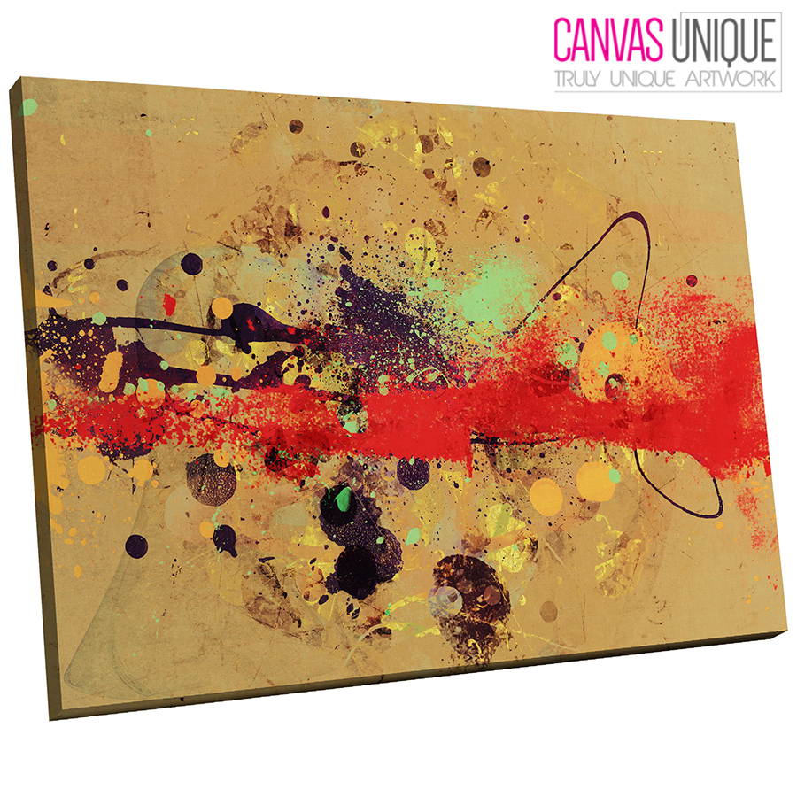 AB451 Red Black Brown Modern Abstract Canvas Wall Art Framed Picture Print