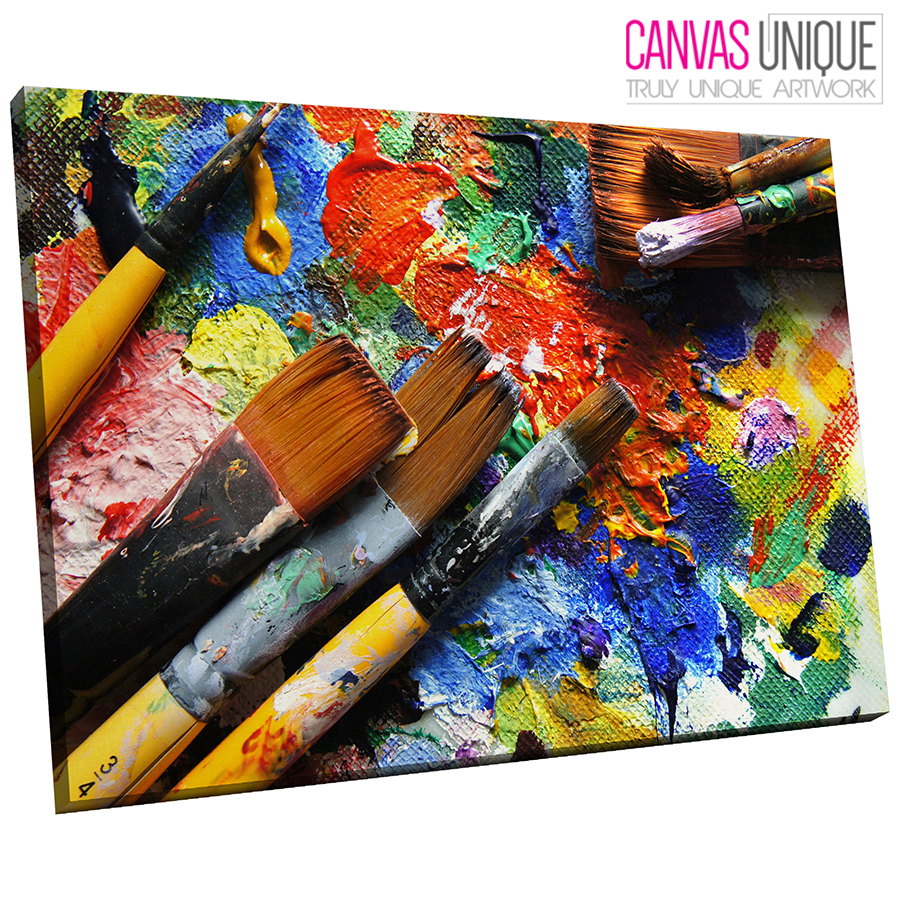 AB478 Multicolour Texturot Paint Abstract Canvas Wall Art Framed Picture Print