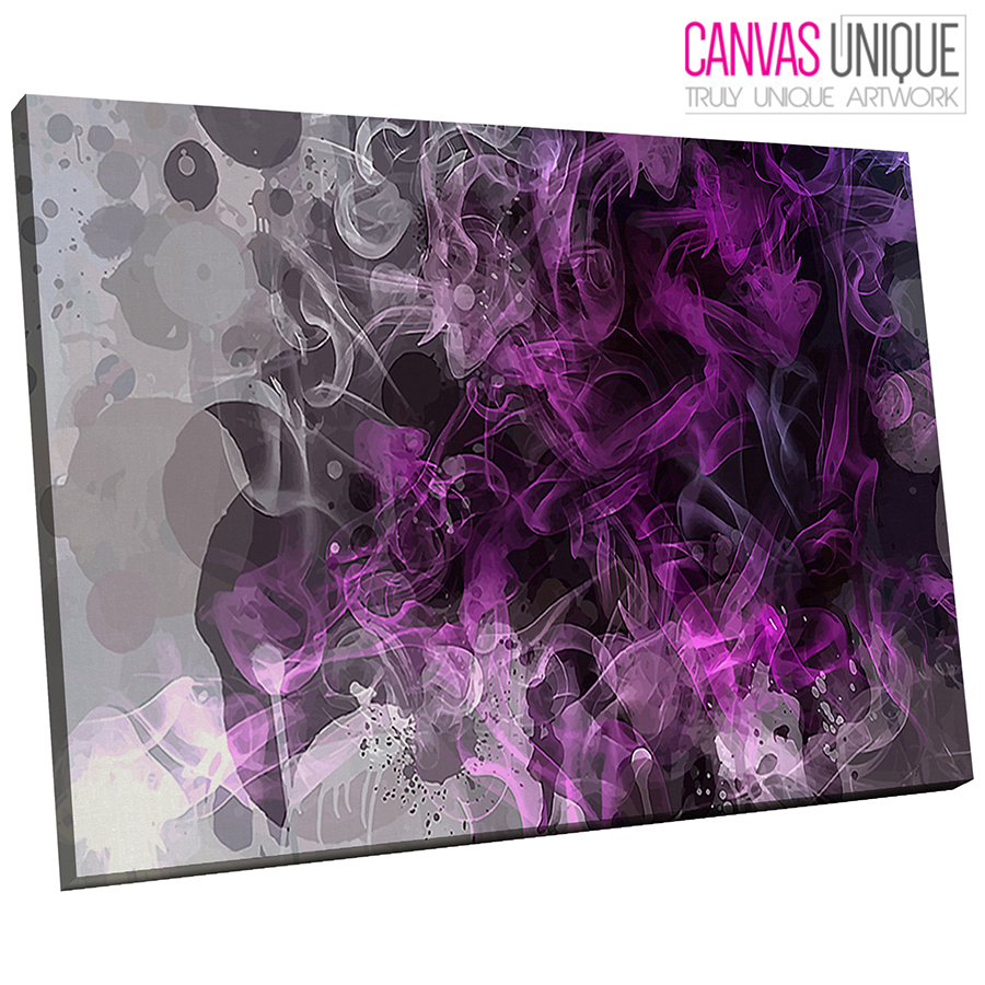 ab806 purple smoke gradient abstract canvas wall art framed picture print picclick uk. Black Bedroom Furniture Sets. Home Design Ideas