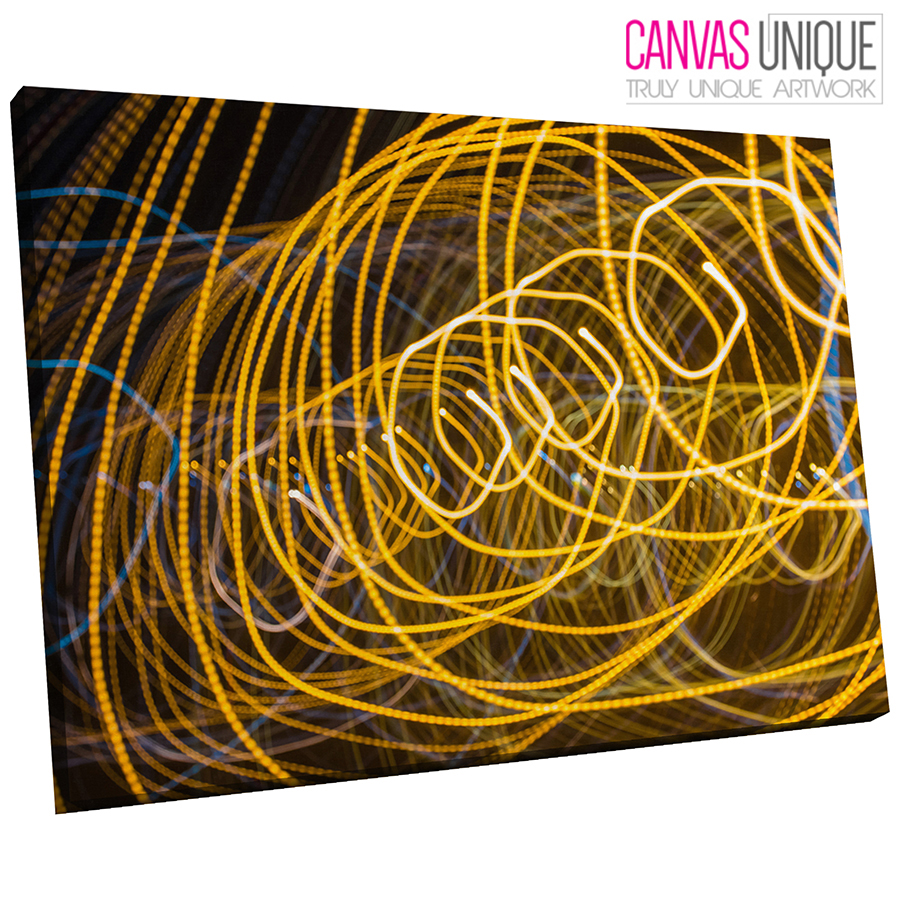 AB830 Yellow Light Line Art Abstract Canvas Wall Art Framed Picture ...