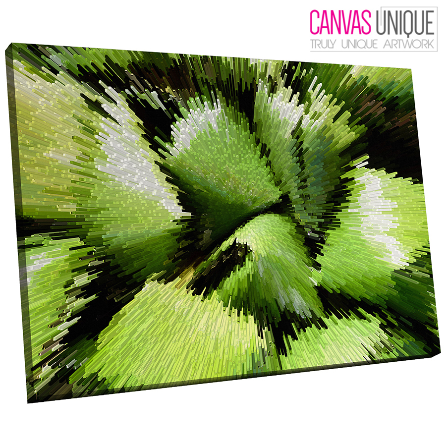 AB844 Grün Paint Modern Gradient Abstract Canvas Wall Art Framed Picture Print