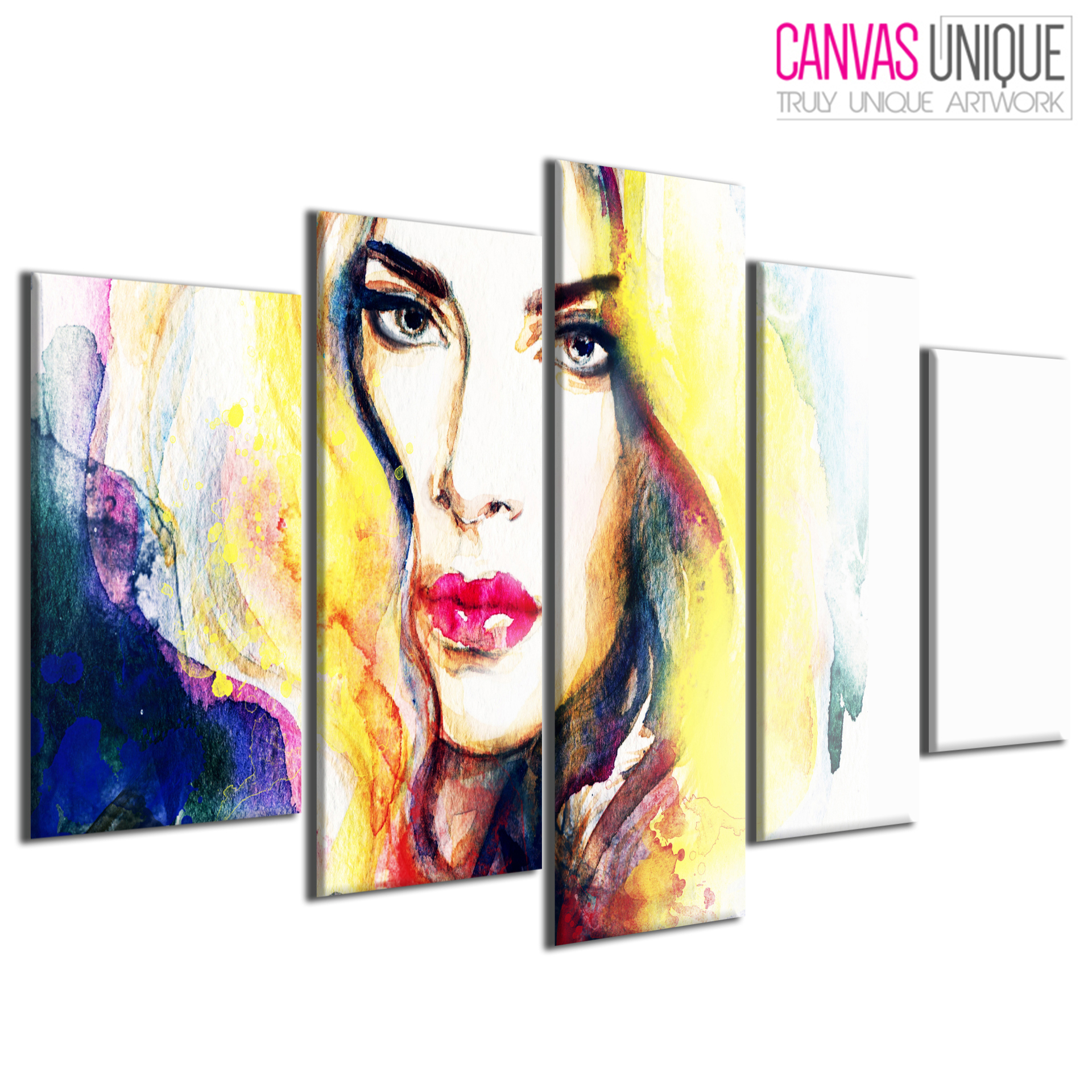 5PE058 Abstract Impressionist Woman Paint Multi Frame Canvas Wall ...