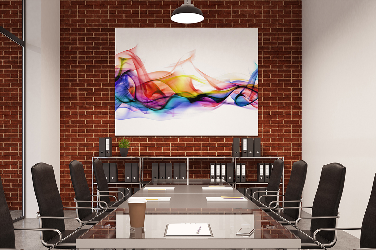 miniature 4 - AB400 Multicolour Smoke Photo Abstract Canvas Wall Art Framed Picture Print