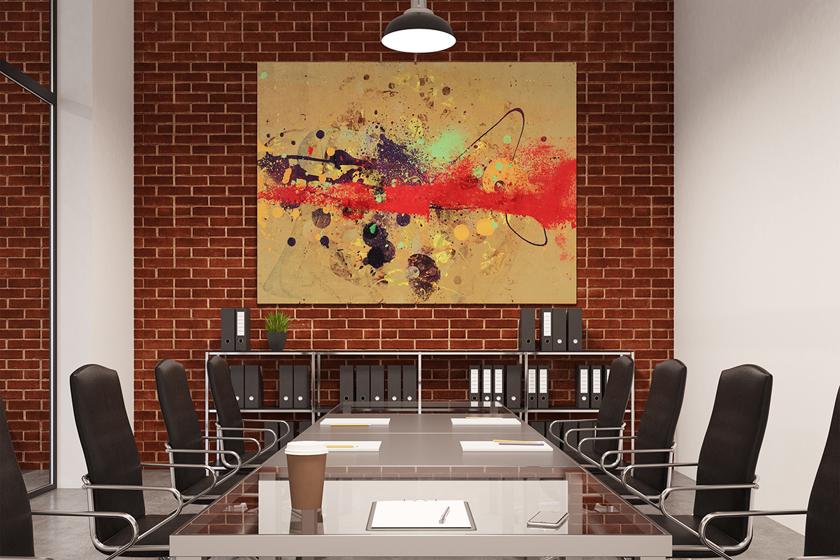 miniature 4 - AB451 Red Black Brown Modern Abstract Canvas Wall Art Framed Picture Print