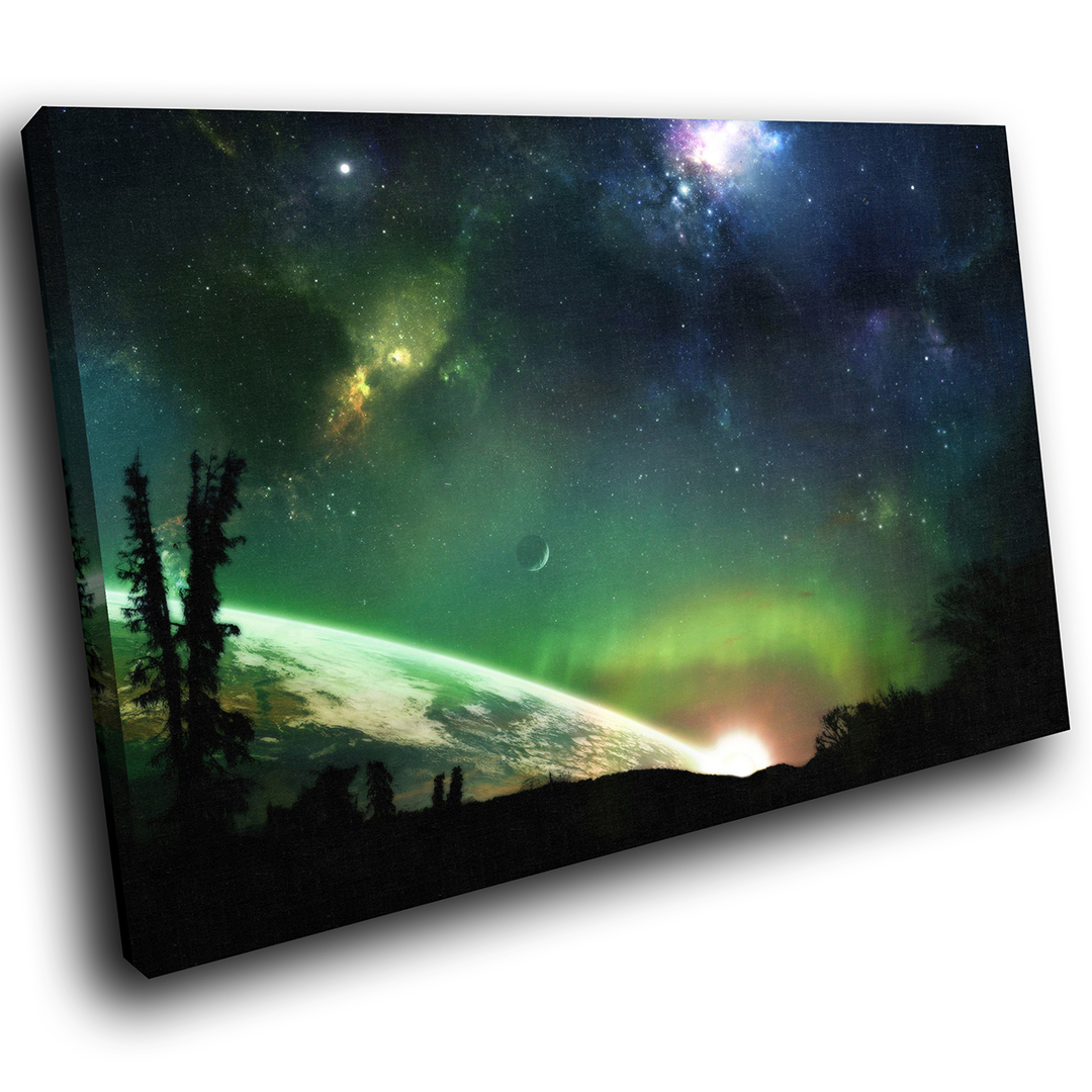 SC194 Star Gazing Space Planets Scenic Wall Art Picture Large Canvas Print