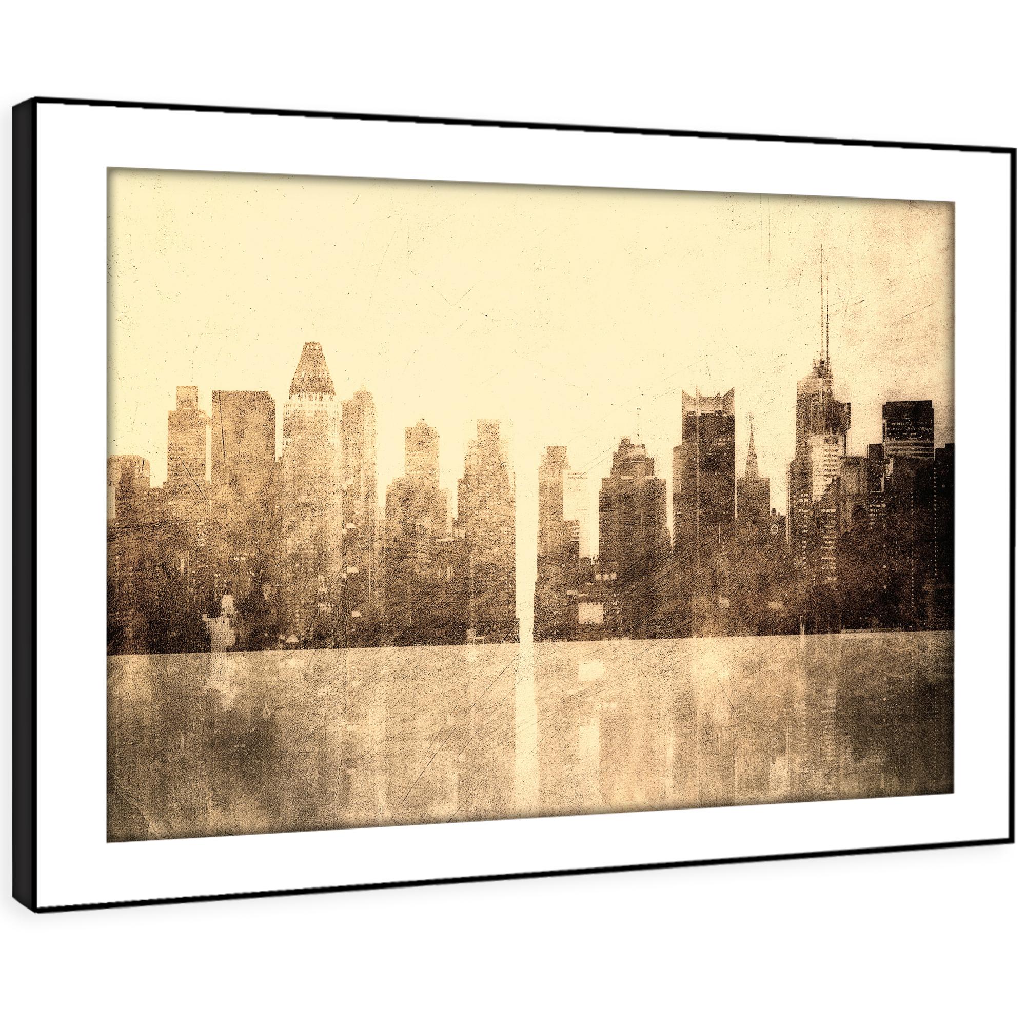 SC324 Retro Vintage New York Cool Landscape Framed Wall Art Large Picture Prints