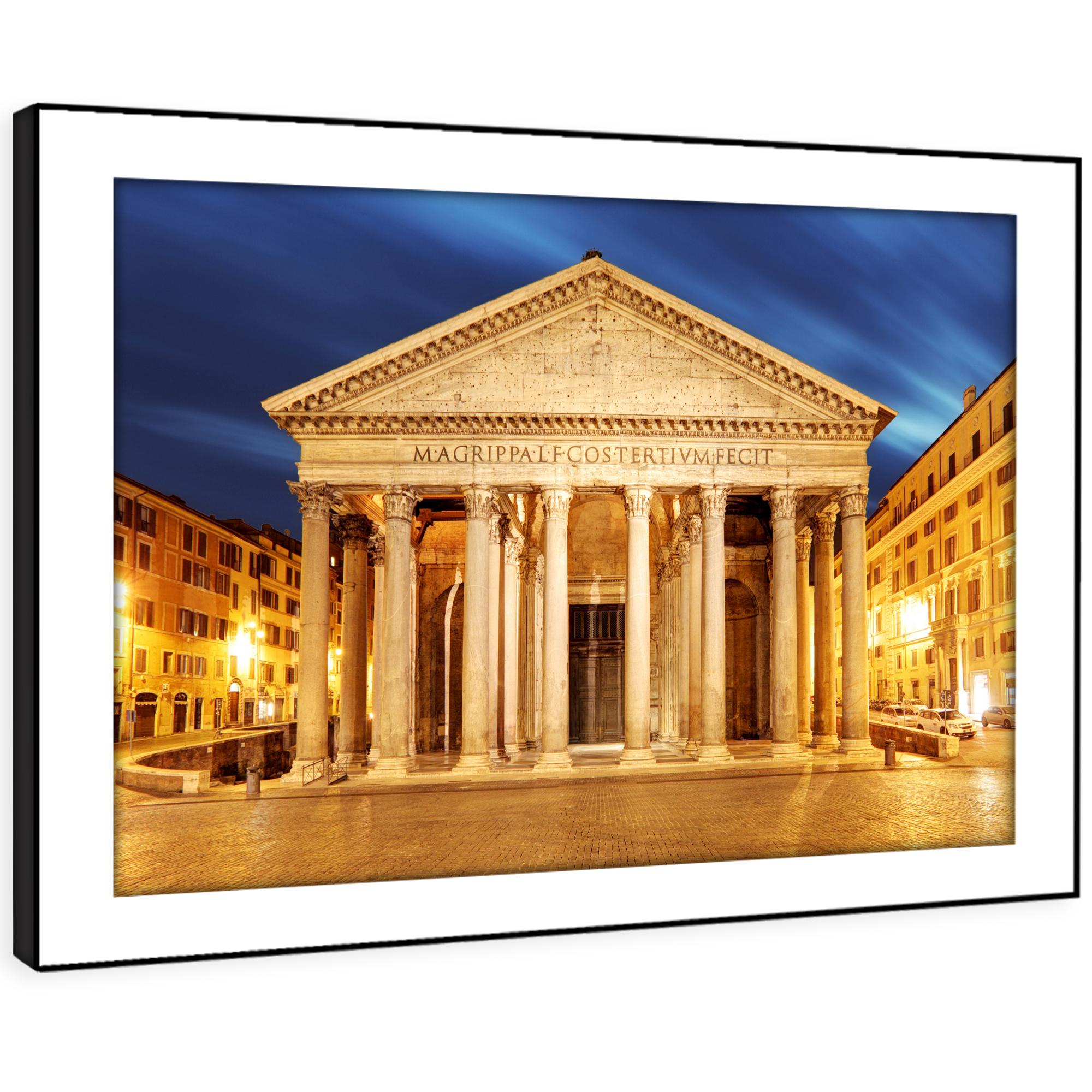 SC458 Pantheon Rome Sunset Cool Landscape Framed Wall Art Large Picture Prints