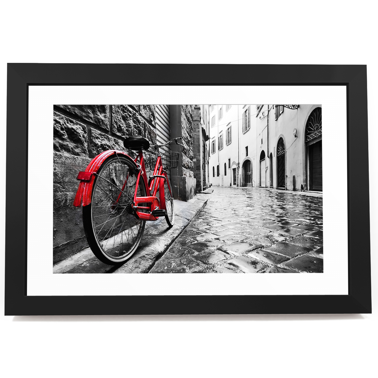 BF3AB1299 rot Bicycle Vintage  Modern Abstract Framed Wall Art  Picture Prints