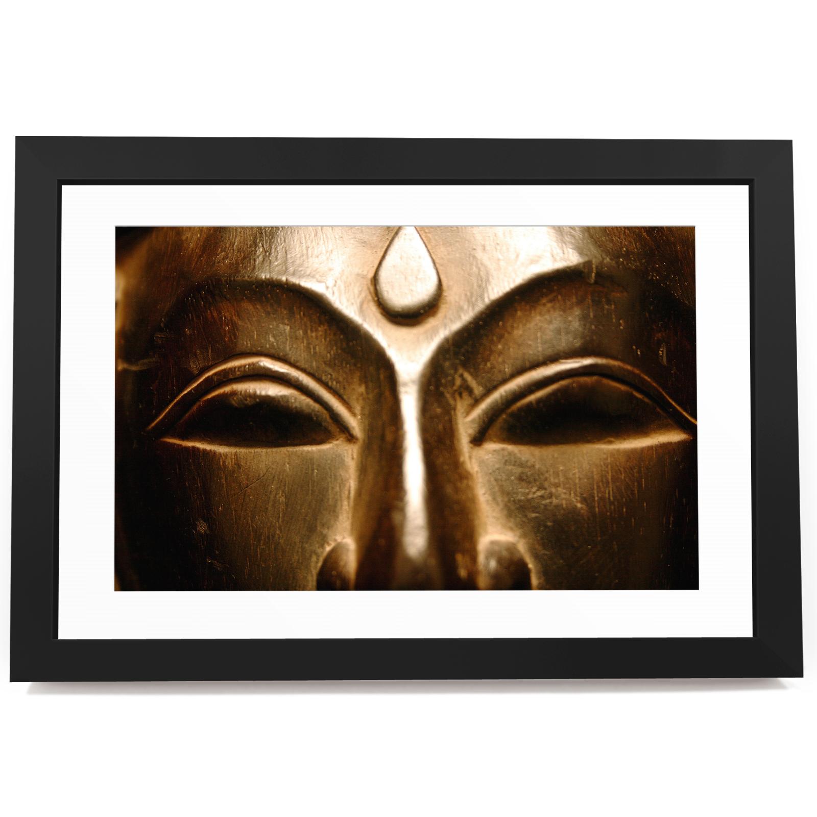 BF2AB187 Bronze Buddha Kühlen moderne abstrakte gerahmte Wand-Kunst ...
