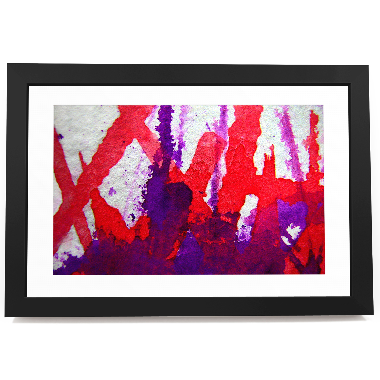 BF3AB250 rot lila Weiß Cool Modern Abstract Framed Wall Art  Picture Prints