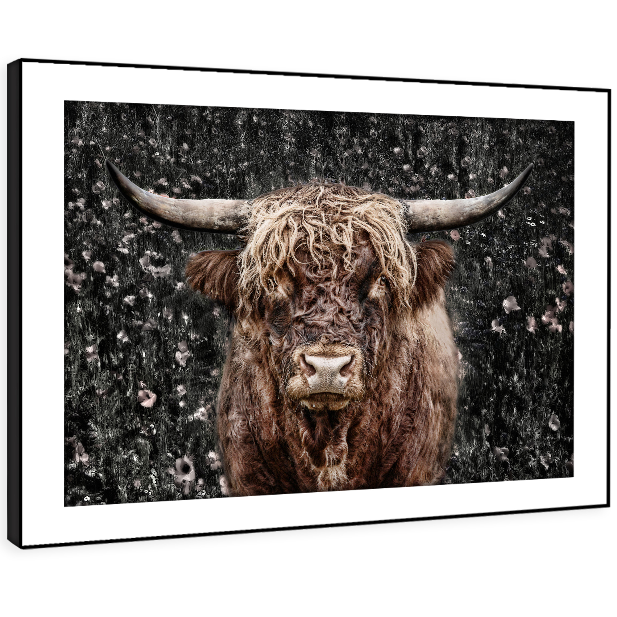 A386 braun  Yak Flower Forest Funky Animal Framed Wall Art Large Picture Prints