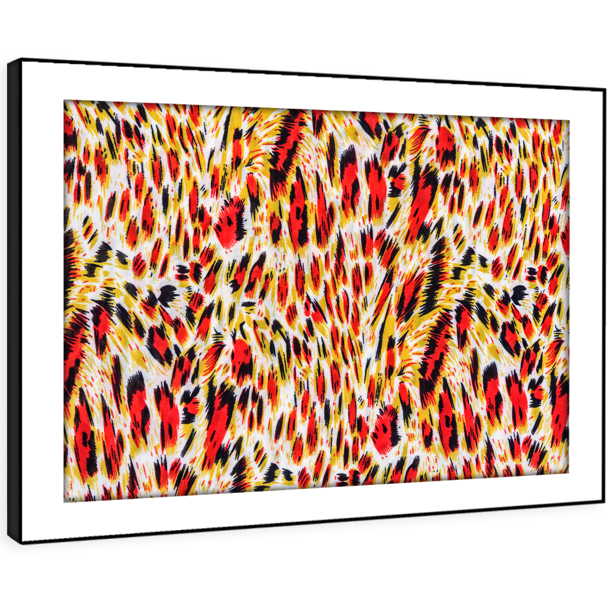 A433 rot Leopard Fur Coat Gold Funky Animal Framed Wall Art Large Picture Prints