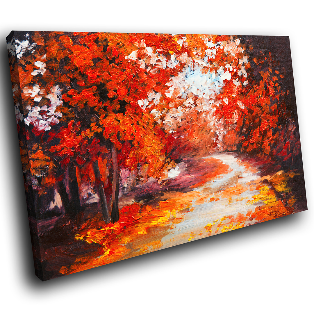 rot Weiß Orange Forest Cool Scenic Canvas Wall Art Large Picture Prints